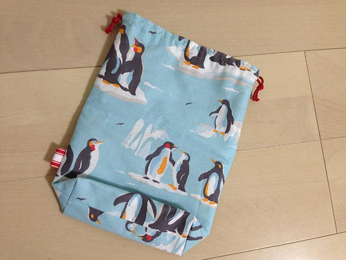 ペンギンの巾着