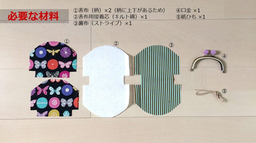 DIY がま口ポーチ・がま口財布の材料