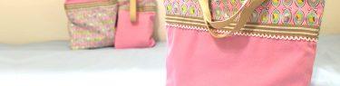 DIY Lesson bag(KIDS)【入園・入学】ちょっと凝ってるレッスンバッグの作り方~飾りあり・裏布あり